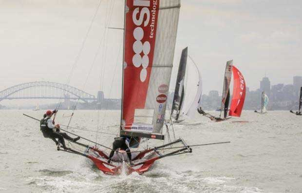 It was a close race for the minor places - 18ft Skiffs Australian Championship © Michael Chittenden