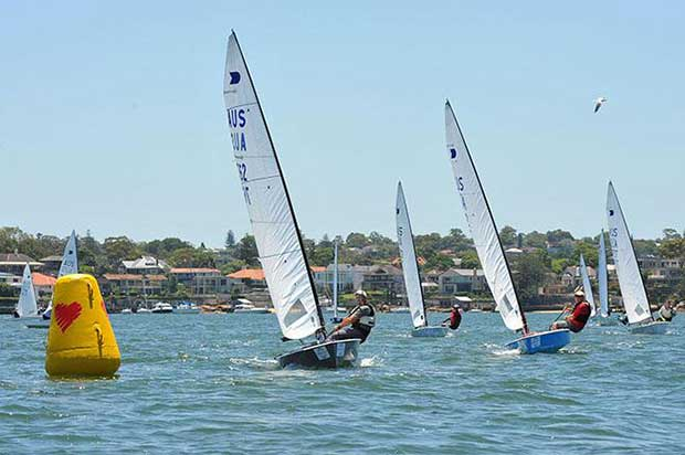 Peter Horne leads coming to mark - Henning Harders OK Dinghy Nationals 2017 © Bruce Kerridge