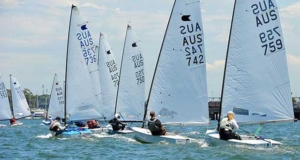Downwind action - Henning Harders OK Dinghy Nationals 2017 © Bruce Kerridge