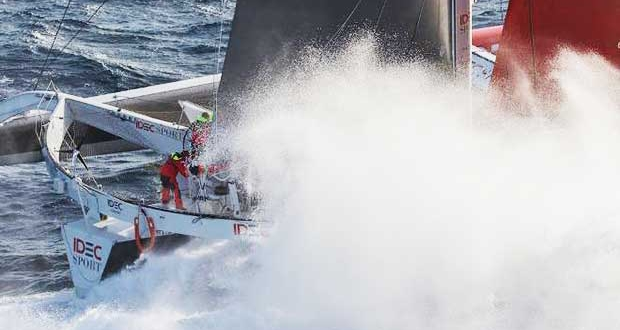 Jules Verne Trophy – Straight on and out of the Southern Ocean? Jean-Marie Liot / DPPI / IDEC © http://www.trimaran-idec.com/