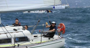 Panchax all smiles after the start - Club Marine Pittwater to Southport Yacht Race © RPAYC Media