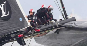 Chris Draper has a view from the sharp end - Softbank Team Japan - America's Cup World Series © SoftBank Team Japan
