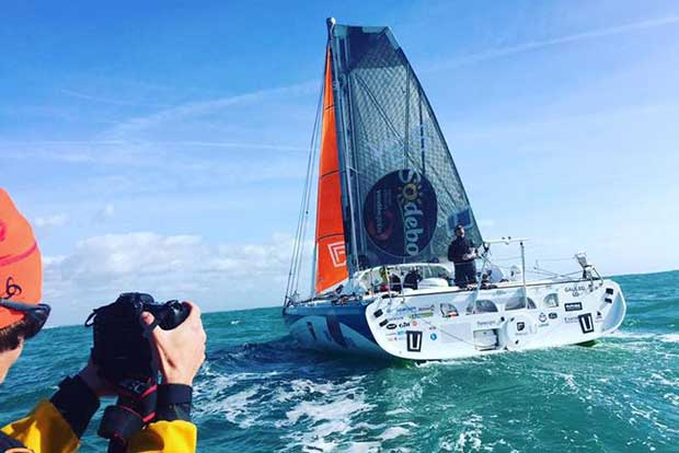 Conrad Colman finishes under sail in the jury rigged Foresight Natural Energy, February 24, 2017 © Conrad Colman / Foresight Energy / Vendée Globe
