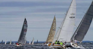 Cruising divisions form a line astern in Race 1. - Geographe Bay Race Week 2017 © Bernie Kaaks