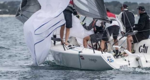 Heath Walter's Amigos in the middle of a spinnaker drop - Helly Hansen Melges 24 Nationals © Ally Graham