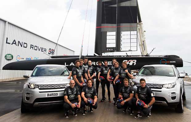 Land Rover BAR launch America's Cup Race Boat R1 in Bermuda. Photo: Lloyd Images
