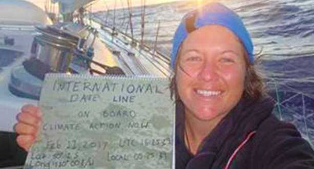 Lisa Blair Solo Circumnavigation of Antarctica crosses International Date Line Tracey Whittaker