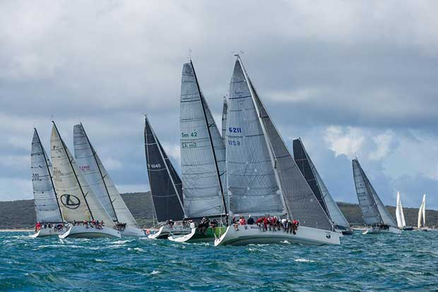 The division one racing fleet competing at the last year's Lincoln Week Regatta. - Teakle Classic Adelaide to Port Lincoln Yacht Race Fran Solly