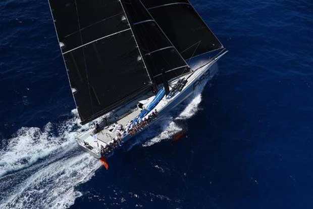 Monohull line honours for George David's Maxi, Rambler 88 (USA) - RORC Caribbean 600 © ELWJ Photography