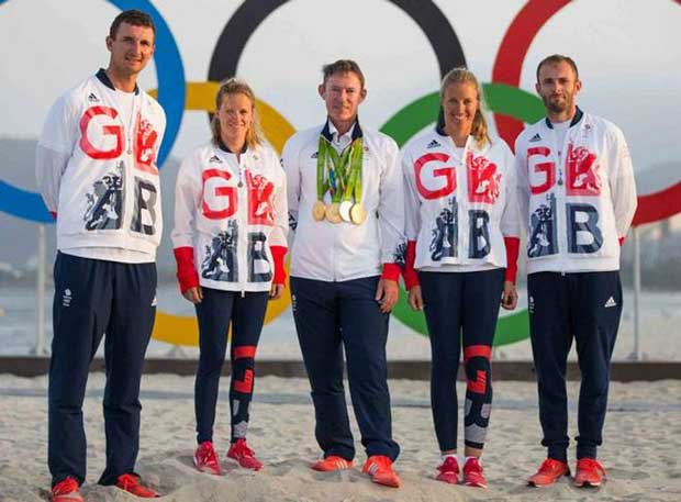 Stephen Park with Rio 2016 Medallists © British Sailing Team / Richard Langdon
