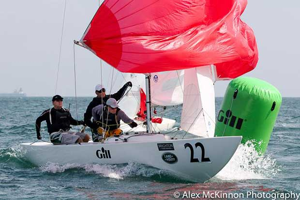 Thank you sponsors! Land Rat from the Brisbane Fleet are superb travellers - John Warlow, Curtis Skinner and Mick Patrick using up more leave passes to go yachting - cheers team! - Brighton Land Rover 2017 Etchells VIC Championship © Alex McKinnon http://www.alexmckinnonphotography.com