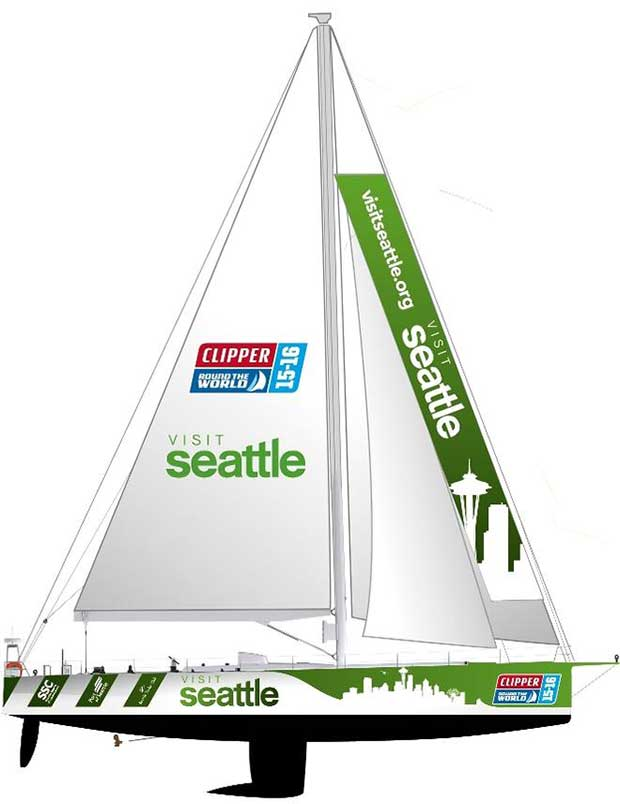 Seattle returns as host and partner in Clipper Round the World Yacht Race Clipper Ventures