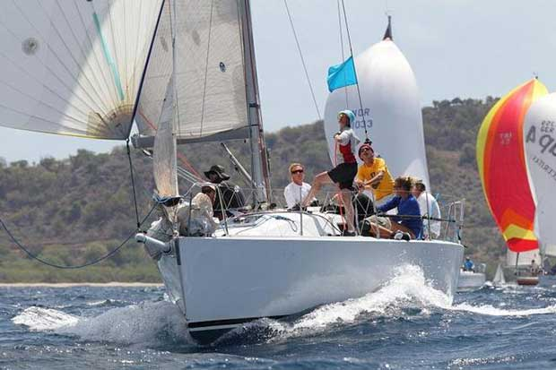 Pocket Rocket competing in the 2014 Antigua Sailing Week © Tim Wright / Photoaction.com http://www.photoaction.com