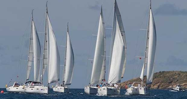 An impressive bareboat fleet at the 46th BVI Spring Regatta © BVISR / www.ingridabery.com