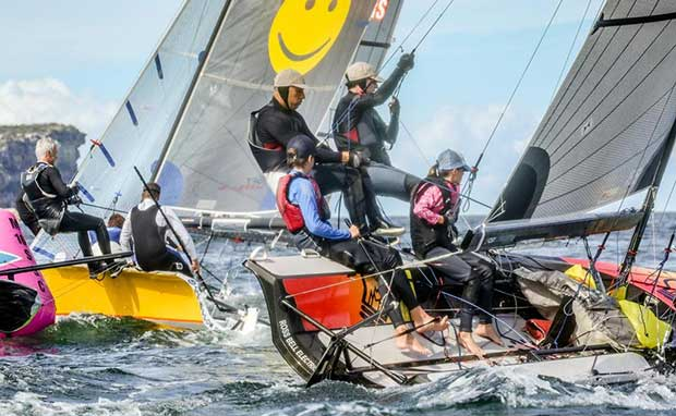Manly 16ft Skiff Club annual Crew Swap Day - April 2017 © Michael Chittenden
