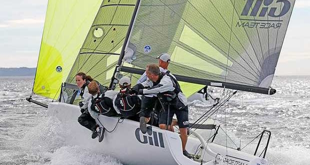 The Corinthian winner of the 2016 Melges 24 European Sailing Series - Miles Quinton's Gill Race Team GBR694 with Geoff Carveth helming at the Marinepool European Championship 2016 in Hyeres © Pierrick Contin http://www.pierrickcontin.fr/
