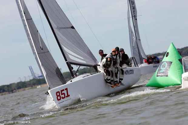Bruce Ayres' Monsoon (USA-851) ended Day 2 at the Melges 24 U.S. Nationals in Charleston on the fourth position © JOY / USM24CA