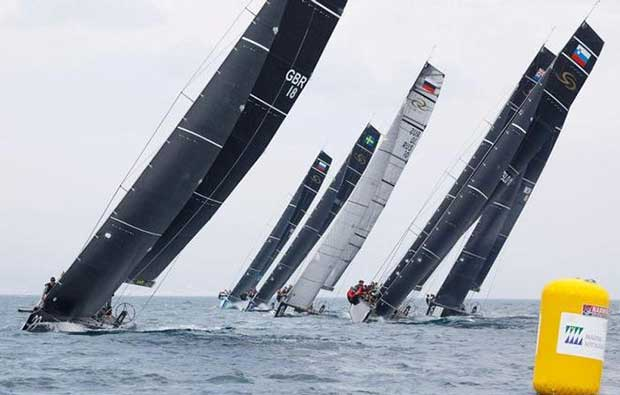 Eight teams line up to race in the RC44 Sotogrande Cup Martinez Studio