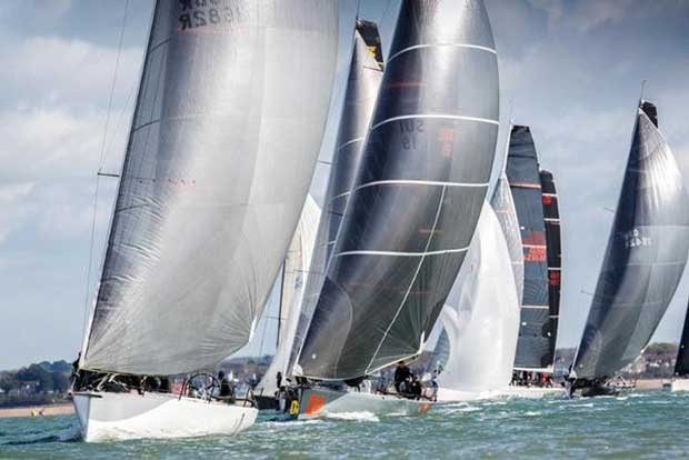 Tokoloshe leads the FAST 40+ fleet at the RORC Easter Challenge but star performer throughout the regatta was Sir Keith Mills' Invictus © Paul Wyeth / pwpictures.com http://www.pwpictures.com