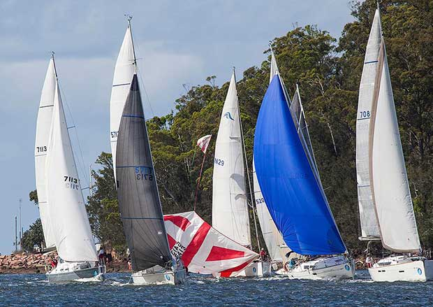 CVD#2 Don't loose that tape now!!!!!! - Sail Port Stephens © John Curnow