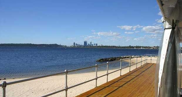 Swan River and Perth City view from South of Perth Yacht Club. - Viper 640 World Titles - Perth 2018 © Viper 640 http://viper640.org/