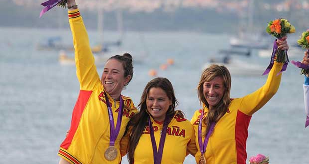 London 2012 ESP celebration © OnEdition / World Sailing