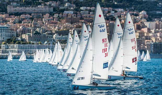 470 Women race start off Monaco - 470 European Championship 2017 © Y.C.M.
