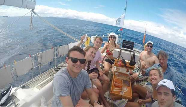 On board Andrew and Sabrina Eddy's Oyster 485, Gaia during the RORC Caribbean 600 © Gaia
