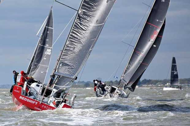 """Taking on the Rolex Fastnet Race two-handed. Redshift Reloaded, Ed Fishwick's Sun Fast 36, with Figaro sailor, Nick Cherry Paul Wyeth / http://www.pwpictures.com"""">www.pwpictures.com http://http://www.pwpictures.com"""">www.pwpictures.com"""