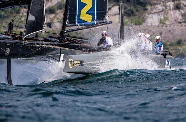 Wet ride on Team BDA's GC32 – GC32 Racing Tour © Jesus Renedo / GC32 Racing Tour