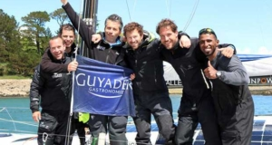 Monday's race team: from left Pablo Santurde, Arthur Le Vaillant, Corentin Douguet, Phil Sharp, Robin Marais, Sami Al Shukaili - Grand Prix Guyader Armor Lux Trophy © Phil Sharp Racing http://www.philsharpracing.com/