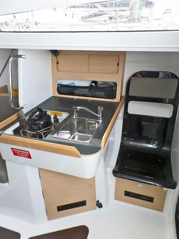 Galley is no nonsense, just like the whole boat. - Jeanneau Sun Fast 3600 © 38 South Boat Sales