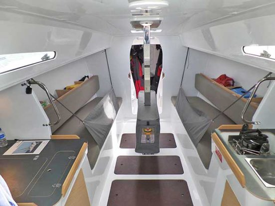 Uncluttered below decks, yet more than comfortable - Jeanneau Sun Fast 3600 © 38 South Boat Sales
