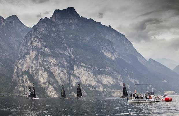 Lake Garda in light mood for day one of the GC32 Riva Cup Jesus Renedo / GC32 Racing Tour