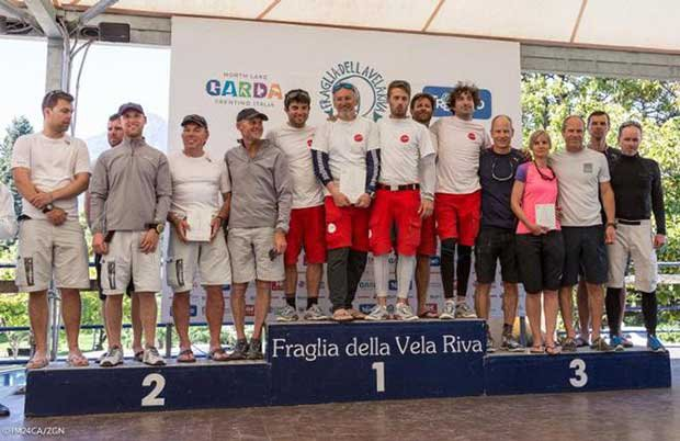 Top 3 teams of the Corinthian division of the Melges 24 European Sailing Series Regatta in Riva del Garda © IM24CA/ZGN/Mauro Melandri