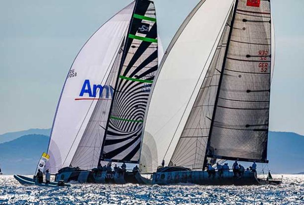 The thrilling regatta finale will be decided over two races on Saturday - 2017 Rolex TP52 World Championship © Martinez Studio/52 Super Series