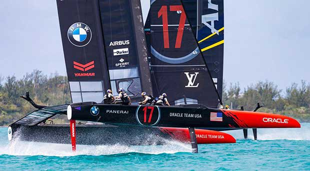 2017 America's Cup Qualifiers Race Day 7 Round Robin 2 - ORACLE TEAM USA and Artemis Racing © Studio Borlenghi   Gattini