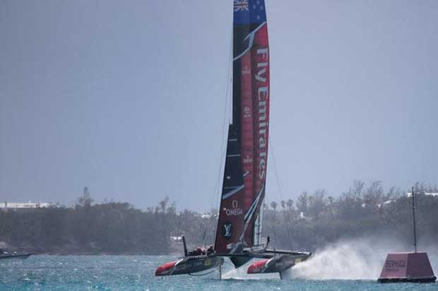 Emirates Team New Zealand - Day 13 - America's Cup 2017 © Richard Smith