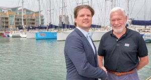 Sir Robin Knox Johnston and HotelPlanner.com CEO Tim Hentchel – Clipper 2017-18 Round the World Yacht Race © Shaun Roster