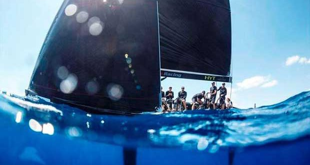 Artemis Racing in the azure waters off Porto Cervo – RC44 Championship © Martinez Studio / RC44 Class