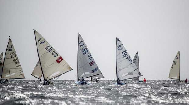 Day 1 of the Finn World Masters in Barbados © Claire ADB