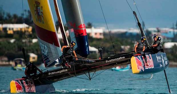 Spanish Impulse by Iberostar in the 2017 Red Bull Youth America's Cup © Xaume Olleros