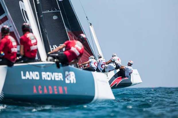 An epic penultimate day of Act 4 - Extreme Sailing Series 2017 © Lloyd Images http://lloydimagesgallery.photoshelter.com/