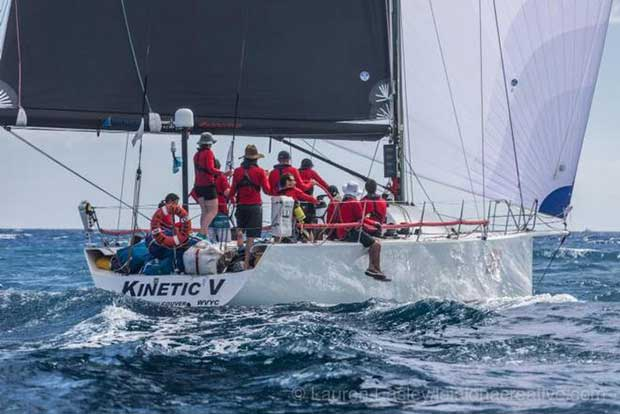 An early-generation TP 52 born from a concept started by this race, Kinetic from Canada also finished today - 2017 Transpac © Lauren Easley http://leialohacreative.com
