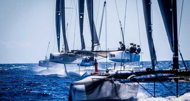 Full on foiling conditions on the final day at the GC32 Villasimius Cup © Jesus Renedo / GC32 Racing Tour