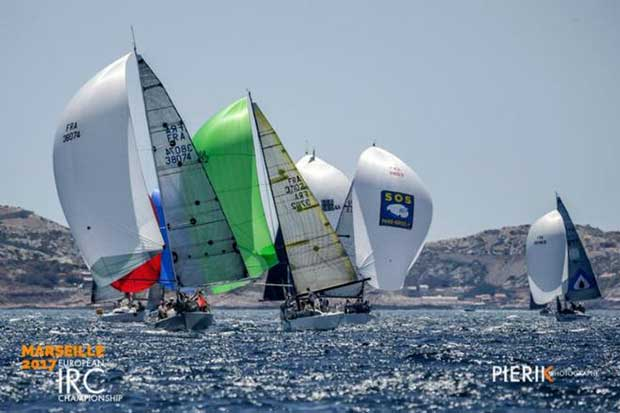 Guy Claeys and his crew on the JPK 10.10 Expresso 2 leads IRC Four to victory and to the overall IRC European Championship title © Pierik Jeannoutot