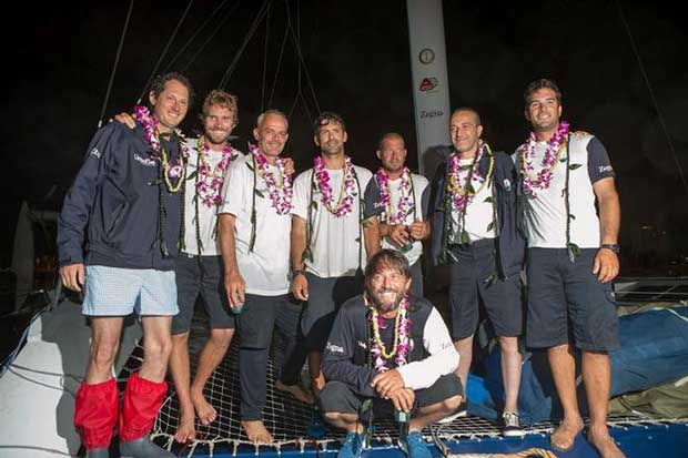 MaseratiMulti70 finishes the Transpac Race in Honolulu in third place © Darryl Oumi
