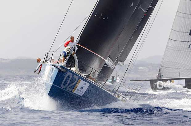 Azzurra took a bullet from Race 3 putting them into second place. - Puerto Portals 52 Super Series Sailing Week Nico Martinez / 52 Super Series http://www.52superseries.com/