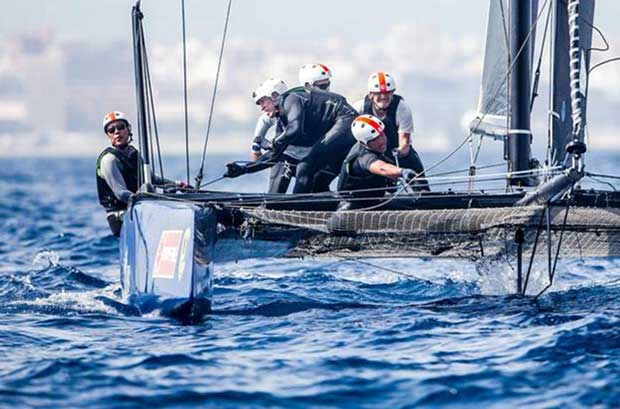 High concentration on Mamma Aiuto! at Copa del Rey MAPFRE © Jesus Renedo / GC32 Racing Tour