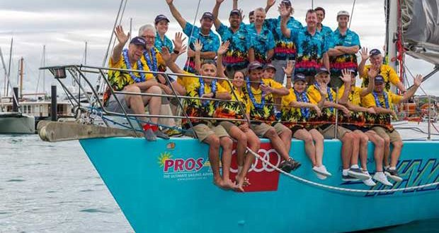 """The crew aboard the local Whitsunday charter yacht, Hammer of Queensland, took top honours in the """"Best Presented crew"""" category of the Prix d'Elegance at Audi Hamilton Island Race Week 2016. © Andrea Francolini http://www.afrancolini.com/"""